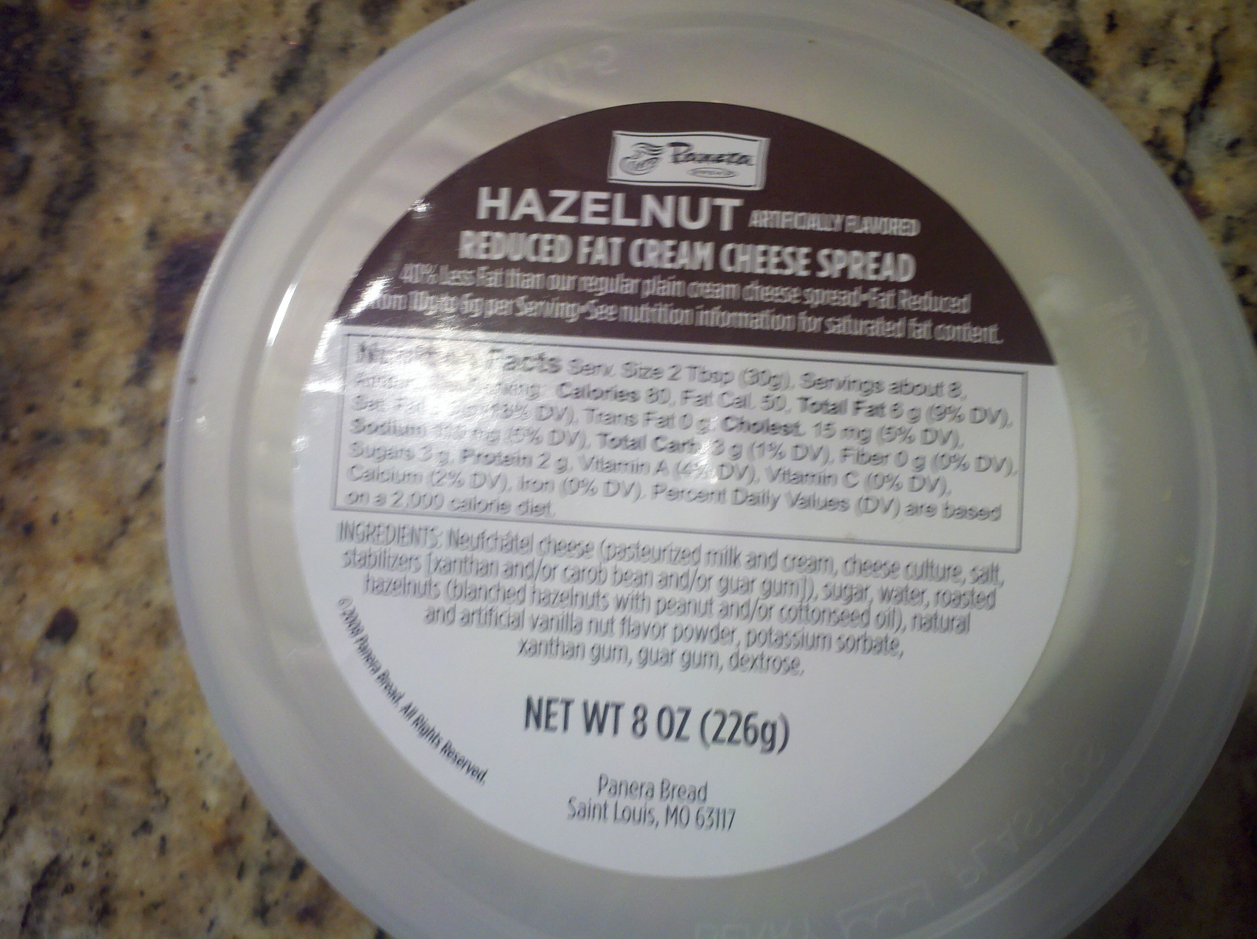 hazelnut cream cheese